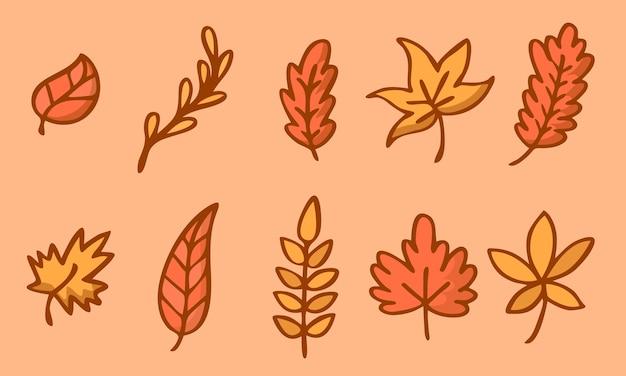 Folhas de outono cor