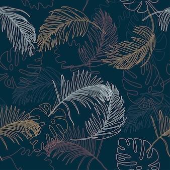Folhas de outono desenhadas à mão padrão sem emenda para impressão ou papel de parede fashionfabrictextile