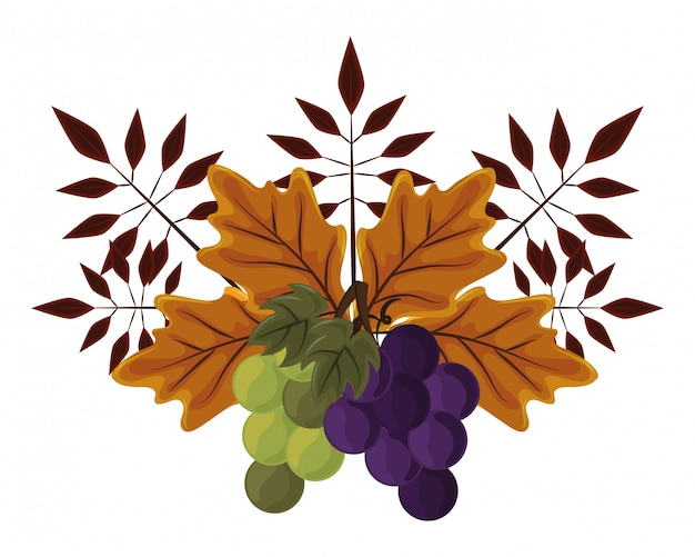 Folhas de outono dia de ação de graças