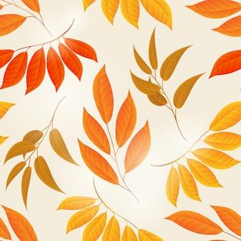Folhas de outono elegante fundo amarelo
