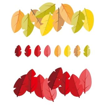 Folhas de outono em setembro