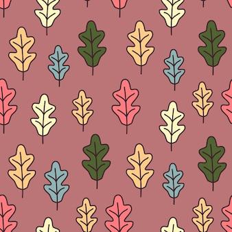 Folhas de outono ornamento sem costura de fundo vector