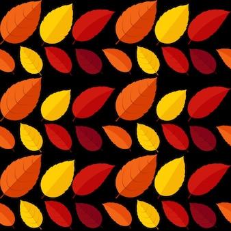 Folhas de outono sem costura padrão fundo ilustração vetorial eps10