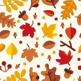 Folhas de outono sem costura padrão