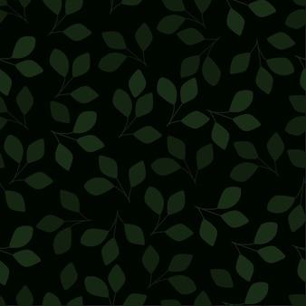 Folhas de padrão sem emenda Vetor Premium