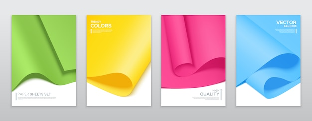 Folhas de papel colorido