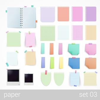 Folhas de papelaria cadernos de papel cadernos de notas