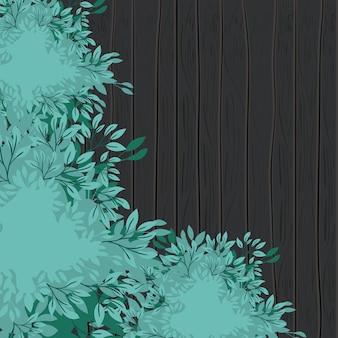 Folhas de planta de fundo