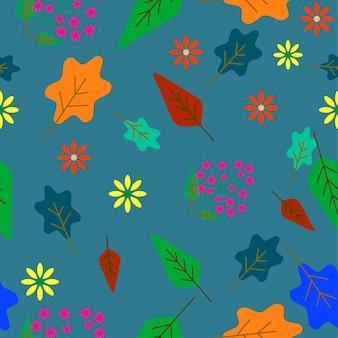 Folhas e flor