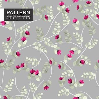 Folhas e ramos design padrão de têxteis sem costura