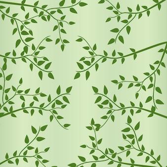 Folhas e ramos verdes no fundo da primavera