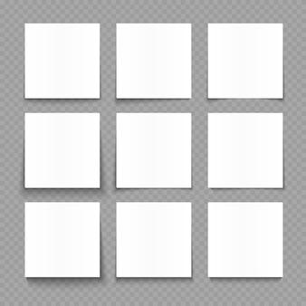 Folhas em branco do bloco de notas de papel branco