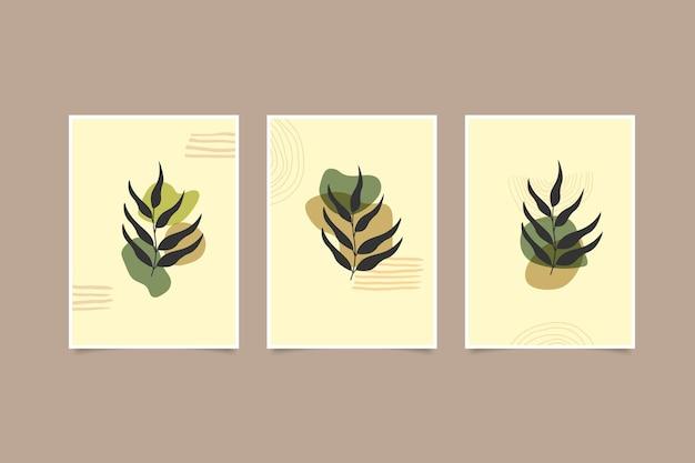 Folhas modernas contemporâneas abstratas