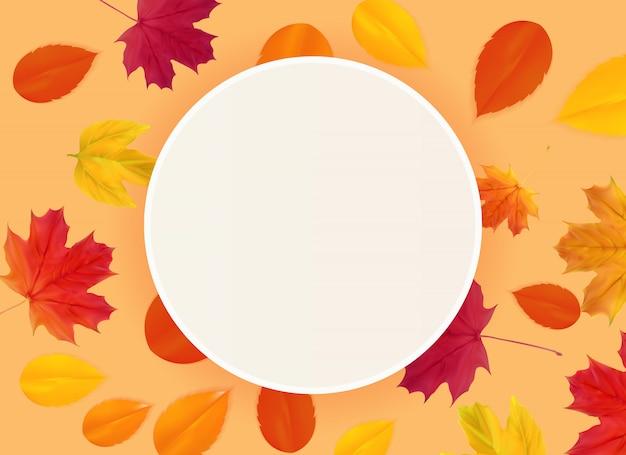 Folhas naturais de outono.