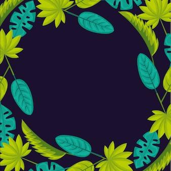 Folhas naturais tropicais