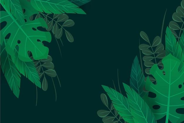 Folhas naturais verdes zoom fundo