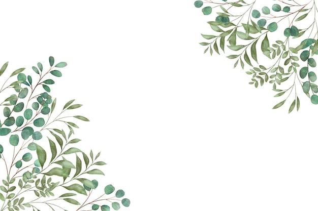 Folhas tropicais com espaço de cópia