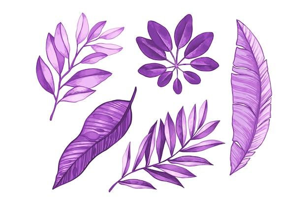 Folhas tropicais de design monocromático