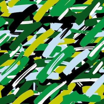 Folhas tropicais de padrão sem emenda de camuflagem abstrata, moda, interior, conceito de envolvimento. ilustração vetorial