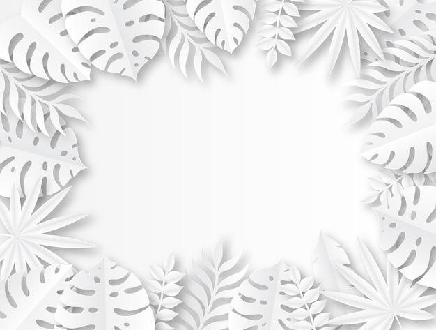 Folhas tropicais de papel.
