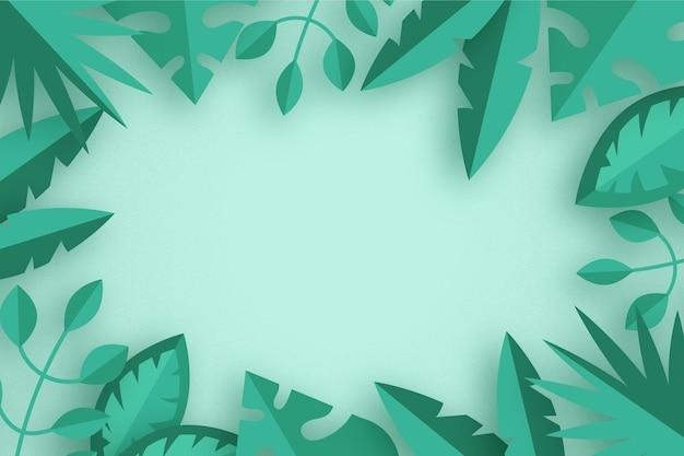 Folhas tropicais em estilo de fundo de papel