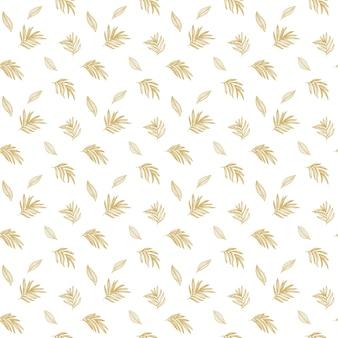 Folhas tropicais luxuosas de design de papel de parede vector design de padrão tropical