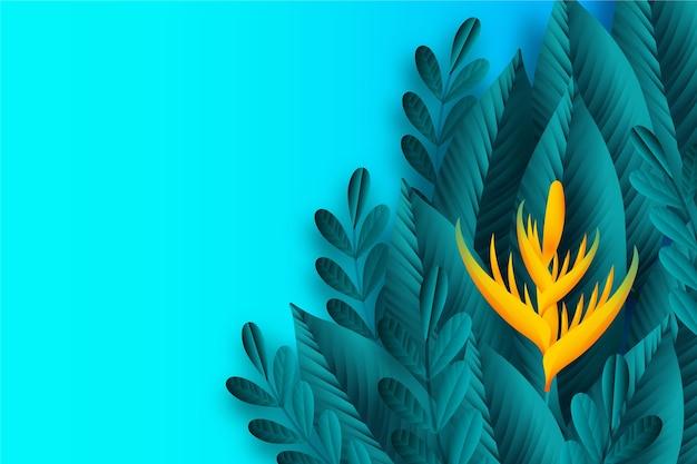 Folhas tropicais papel de parede
