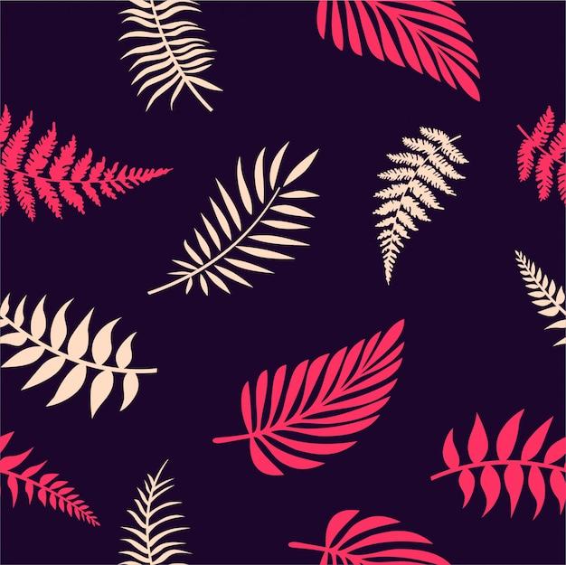 Folhas tropicais sem costura