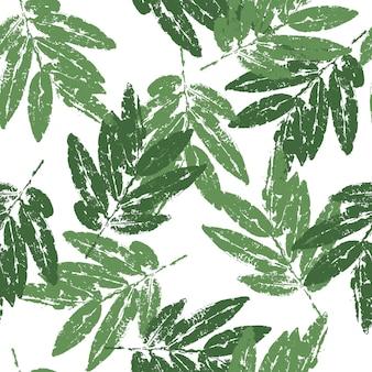 Folhas verdes naturais