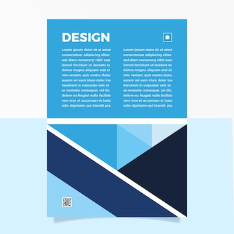 Folheto abstrato azul clássico de modelo