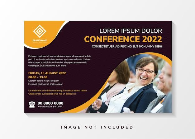 Folheto abstrato de convite de conferência com elemento de linha