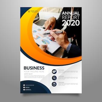 Folheto anual de negócios contemporâneo