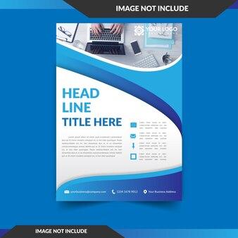 Folheto azul ondulado para publicidade comercial