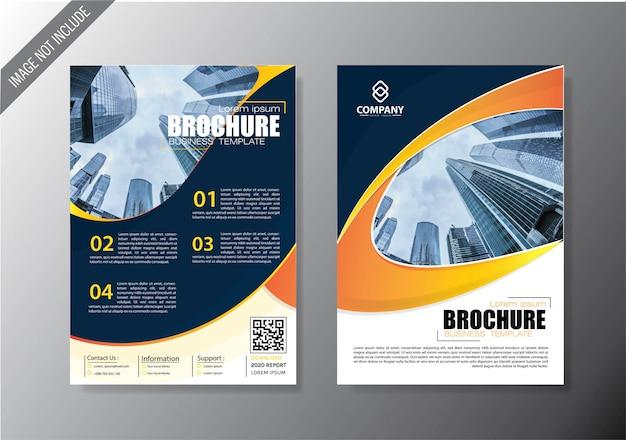 Folheto capa e brochura modelo de negócio para o relatório anual