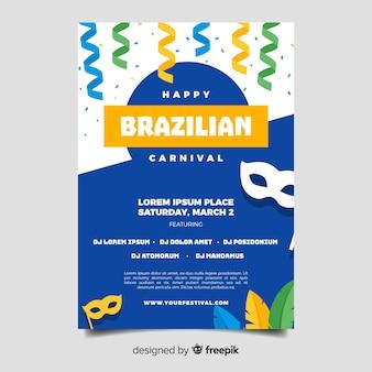 Folheto carnaval brasileiro