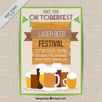 Folheto com diferentes tipos de cervejas