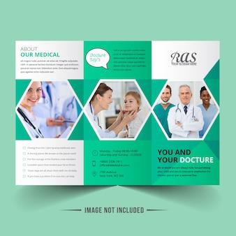 Folheto com três dobras médicas