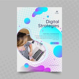 Folheto comercial de marketing vertical