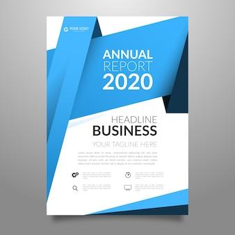 Folheto comercial de relatório anual