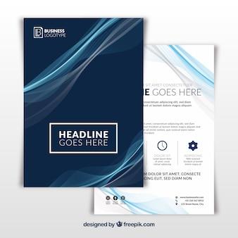 Folheto comercial em tamanho a5 com estilo abstrato