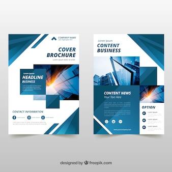 Folheto comercial em tamanho a5 com estilo plano