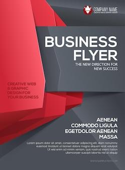 Folheto comercial modelo de folheto poster para apresentação da capa do seu negócio