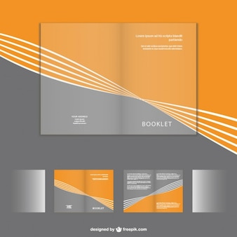 Folheto corporativo conjunto mock-up