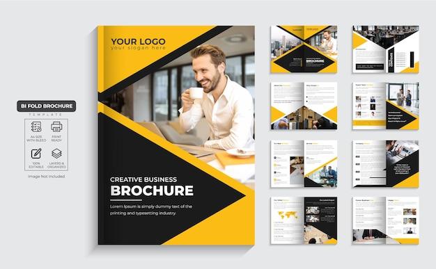 Folheto corporativo, perfil da empresa de 16 páginas e vetor premium de design de folheto comercial de várias páginas