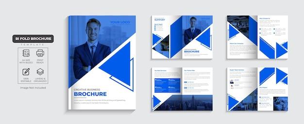 Folheto corporativo, perfil da empresa de 8 páginas e vetor premium de design de folheto comercial de várias páginas