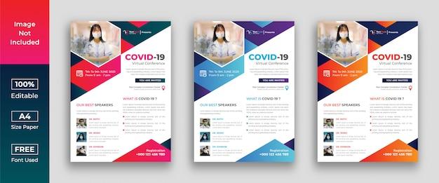 Folheto da conferência do vírus corona