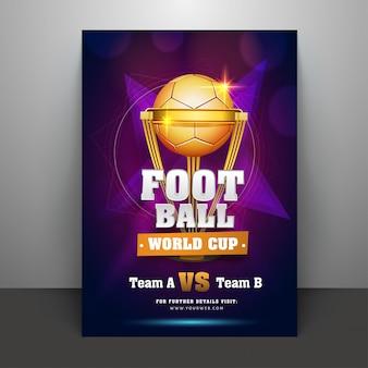 Folheto da copa do mundo de futebol