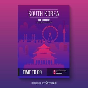 Folheto da coreia do sul