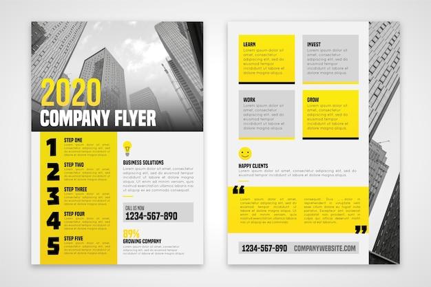 Folheto da empresa 2020 em tons dourados