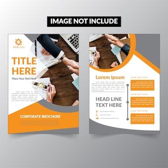 Folheto da empresa orange e black folheto
